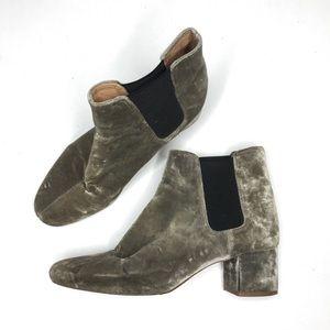 Madewell The Walker Chelsea Boot In Velvet Gray